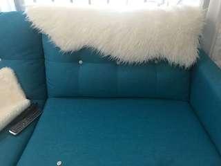 Ikea terjn rug white fake fur