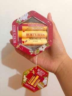 Limited Edition Burt's Bees Trio Tin Lip Balm
