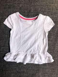 White top with embroidery detail 1-2yo