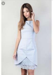 🚚 mgp label amelie crochet dress in sky blue