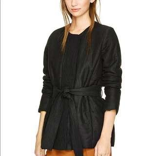 Aritzia wilfred black belted jacket