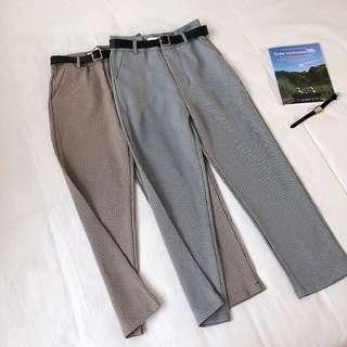 🚚 [PO] gingham fitted checks pants
