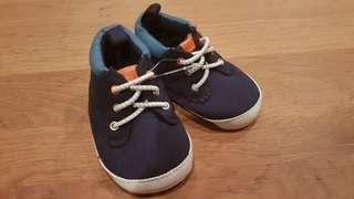 Carter's baby boy shoes (0-3 mths)