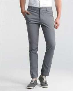 Gray pants by Giordano