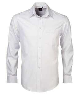 White LS polo by Pierre Cardin