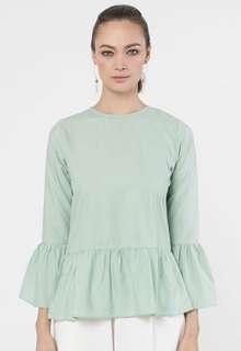 Adores.KL - Orkid Top (Soft Green)