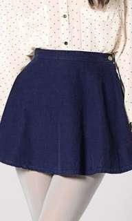 American Apparel Navy Corduroy skirt size small