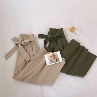 🚚 [PO] high quality elasticized ribbon wide culottes