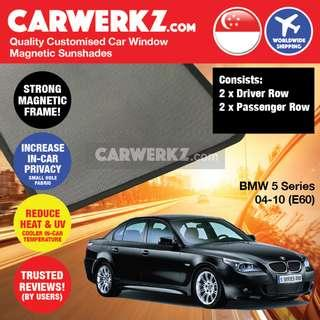 [SG BEST]   BMW 5 Series 2004-2010 5th Generation (E60) Customised Magnetic Sunshades 4 Pieces
