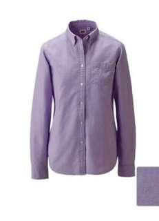 Uniqlo Women Oxford Shirt - Purplish grey
