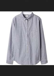 🚚 Uniqlo Women Oxford Shirt - Grey