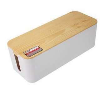 電線收藏盒 (木紋蓋) Cable management box (Wooden effect cover)