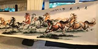 Horse - 8 駿馬画 Scroll Chinese Painting