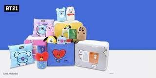 🚚 BT21 Nara HOME Deco Nap Cushions Plushies TATA/KOYA/COOKY/CHIMMY (Instock) Official
