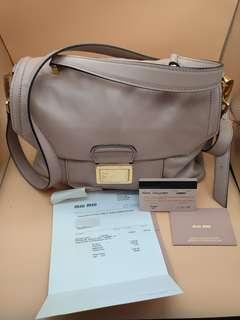 86ff534d0392 Miu Miu Vitello Soft Calfskin Leather Bag