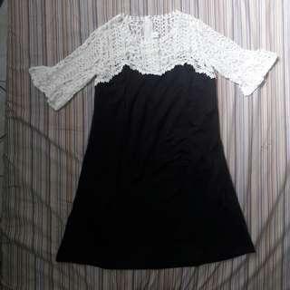Self Portrait Laced Black Dress