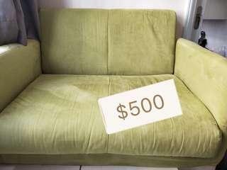 104cm 綠色梳化床