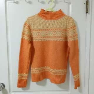 🚚 冬季暖暖陽光圖騰毛衣 #半價衣服市集