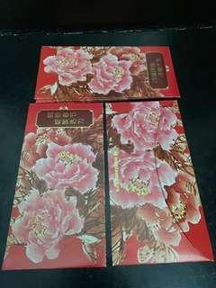 Hong Leong Bank 8pcs Red Packets Angpau