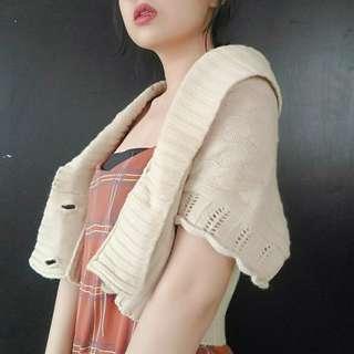 🚚 (免運)森林系女孩針織罩衫小外套上衣