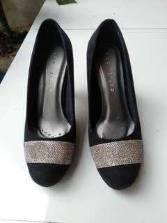 High Heels sepatu hak tinggi wanita cewek hitam neo far be