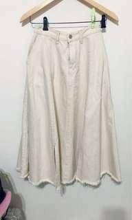 🚚 100%正韓復古米白牛仔裙