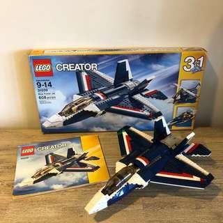 *Used* Lego 31039 Creator 3-in-1 Blue Power Jet