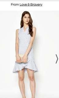 LAB Taya Checkered Layered Hem Dress