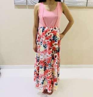 🚚 Floral Maxi Maternity Dress
