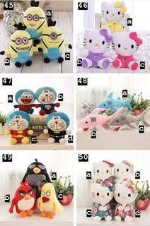 Cartoon Hello Kitty Shin Chan Minion Spongebob Plush Soft Toys #2