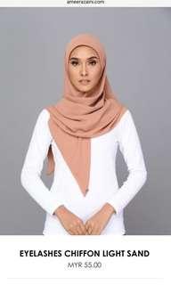 Square scarf chiffon- Light Sand