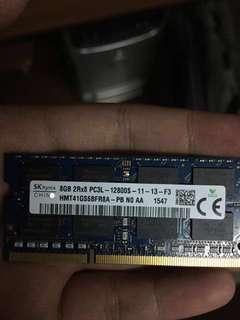 8gb ram PC3L for laptops