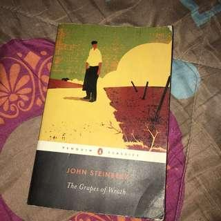 Grapes of Wrath by John Steinbeck paperback copy
