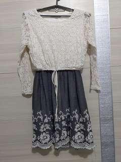 🚚 蕾絲刺繡絕美洋裝