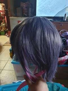 Ash Purple Short Male Cosplay Wig