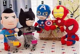 Cartoon Marvel DC Superheroes Plush Soft Toys #1