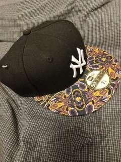 Bieber's New Era 59Fifty New York Yankees Paisley Baseball Hat Cap Fitted Size 7 1/8