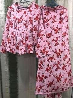 Baju Kebaya Pink Bunga
