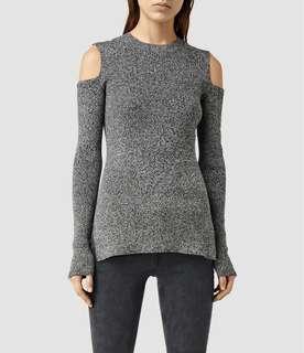 All Saints Cold Shoulder Sweater