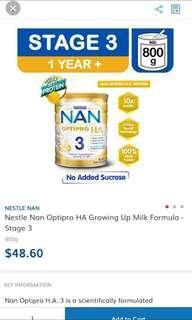 🚚 Looking for! Nestle nan optipro ha 3