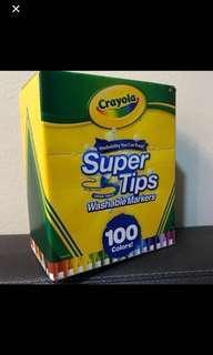 Crayola Supertips Washable Markers 100