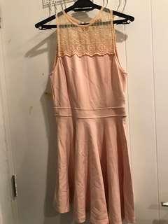 Soft Cotton Pink peach dress