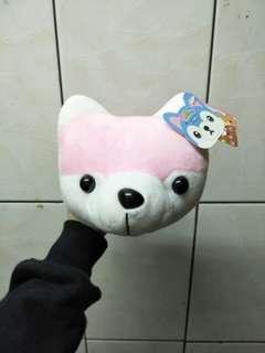🚚 粉色柴犬槌子娃娃