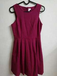 BNWT Maroon skater dress