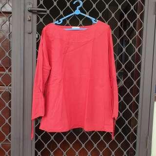 [FREE ONG] Blouse baju merah