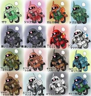 WTB Built Gundam Zaku or any Kit