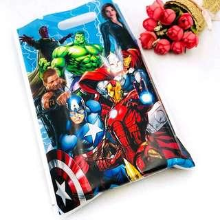 Superheroes Avengers party supplies - party bags / loot bags/ pinata bags / gift bags