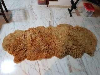Sheep fur from New Zealand