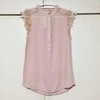 BNWT H&M Pink Lace Blouse