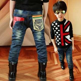 Boys Long Pants Dark Blue Jeans